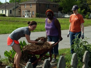 Working together at the Chicora Place Community Garden
